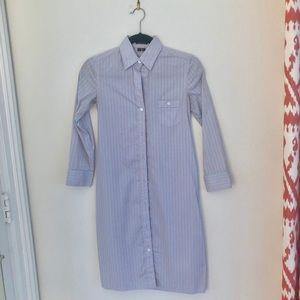 Theory Blue Stripe Shirt Dress - Size 0
